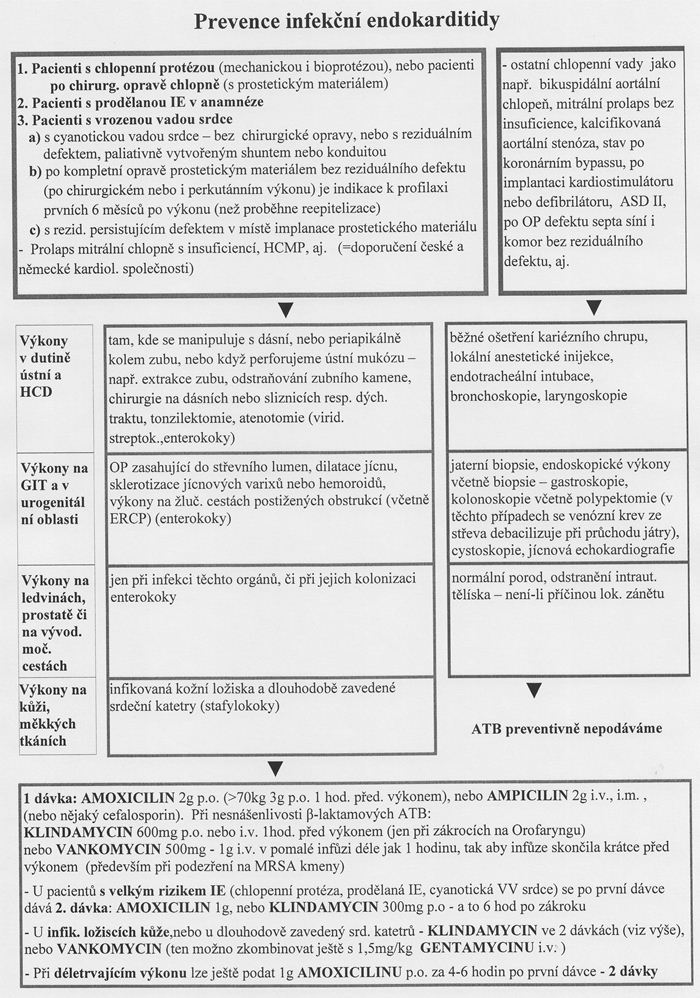 Prevence infekcni endokarditidy